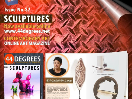 The new issue of the online art magazine 44DEGREES - SCULPTURES
