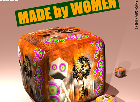 Women's Art Collection for 2018 of the Online art Magazine 44DEGREES. Subject: MADE BY WOMAN