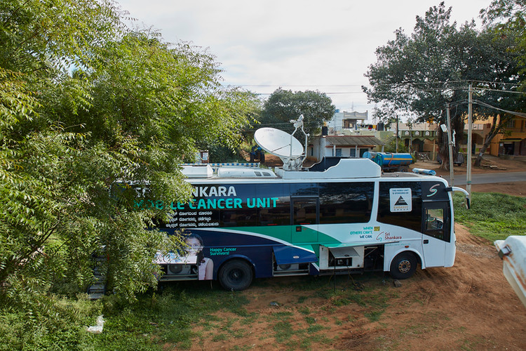 Our custom built mobile cancer screening unit with satellite for telemedicine