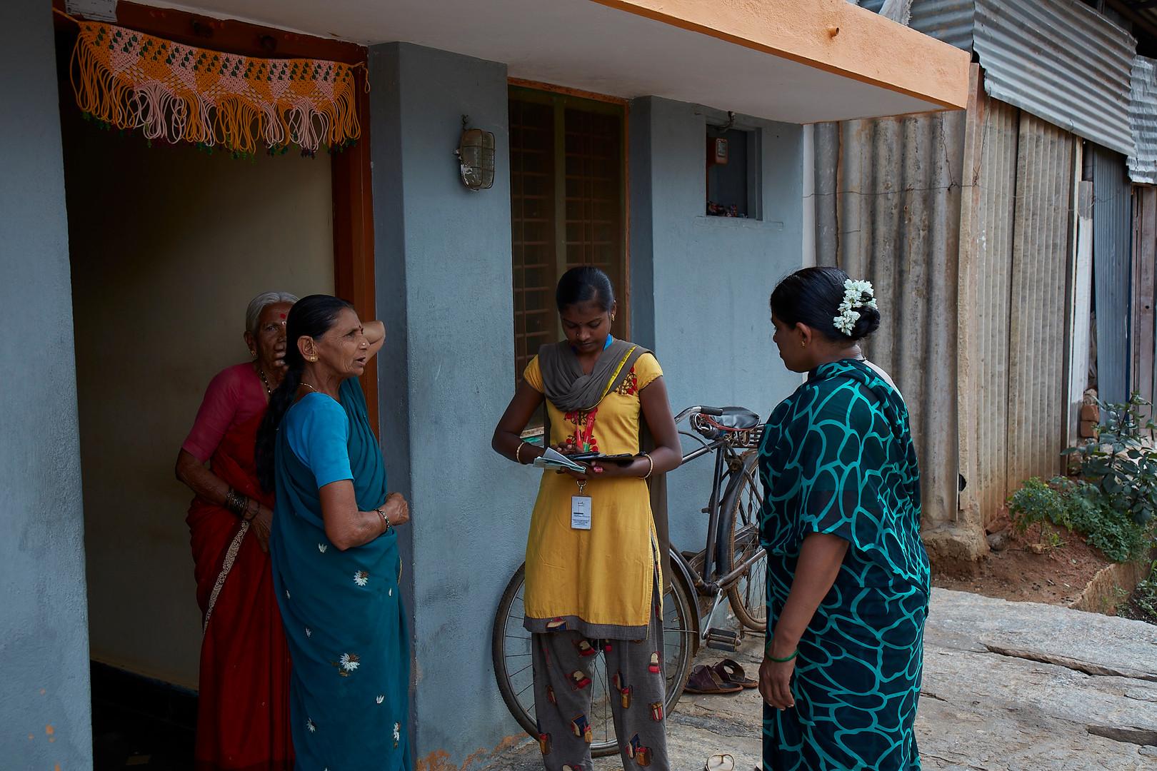 Our health worker conducting door to door cancer awareness
