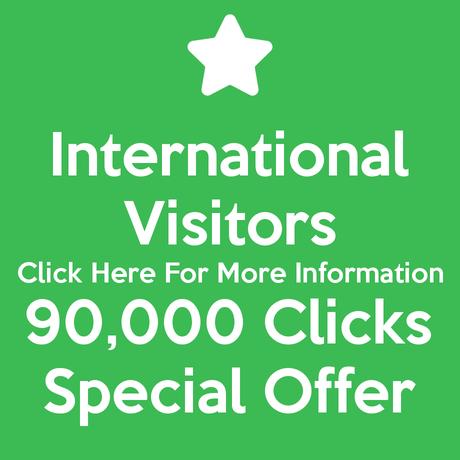 International Visitors 90,000 Clicks Special Offer