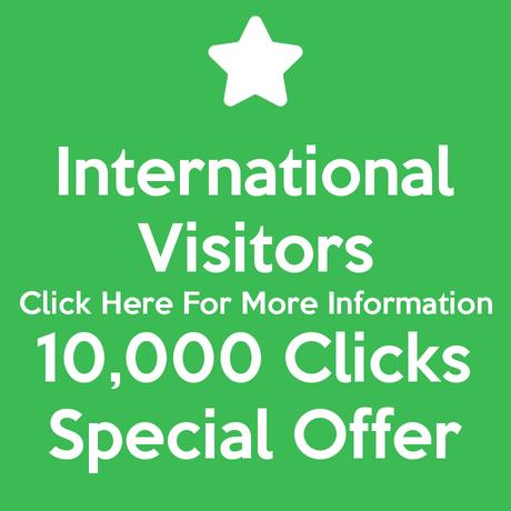 International Visitors 10,000 Clicks Special Offer