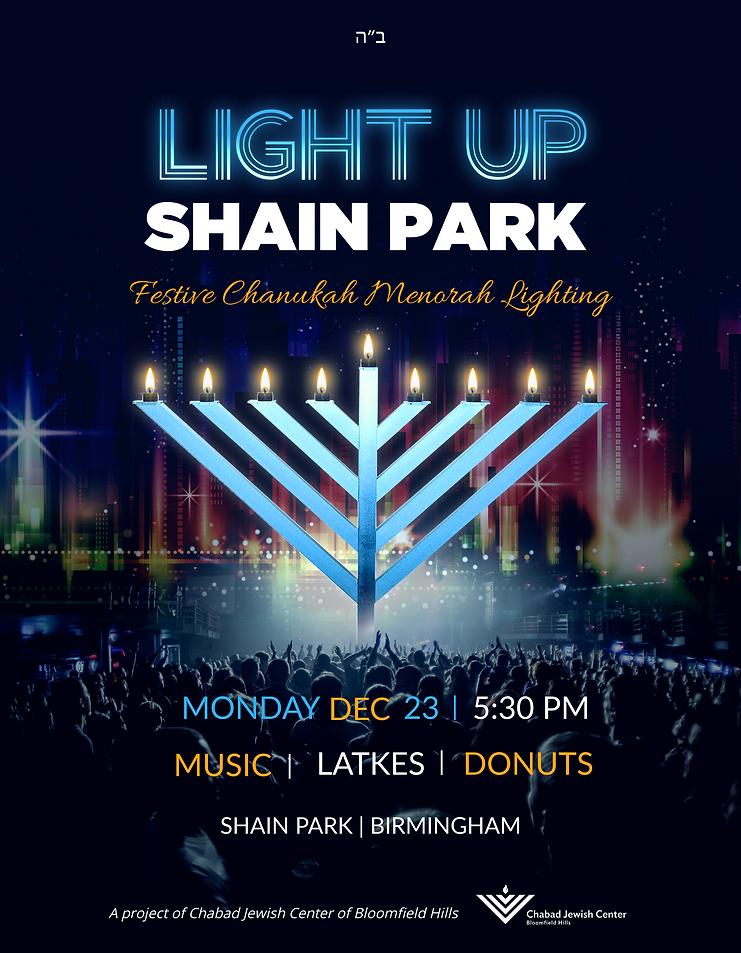 Shain Park Menorah flyer.png