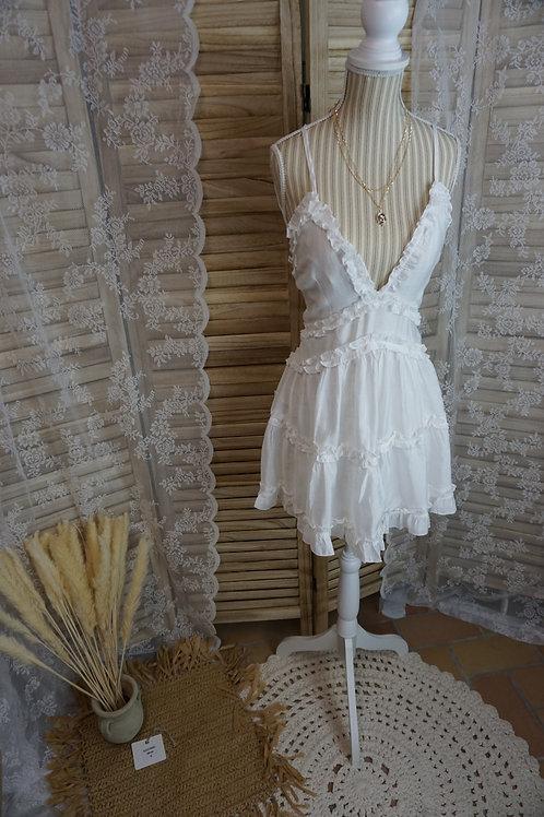 Mini Kleid ''Summer in Rio'' weiß