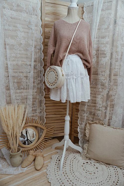 Bali Tasche weiß geflochten