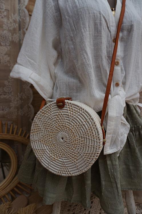 Bali Tasche weiß braun