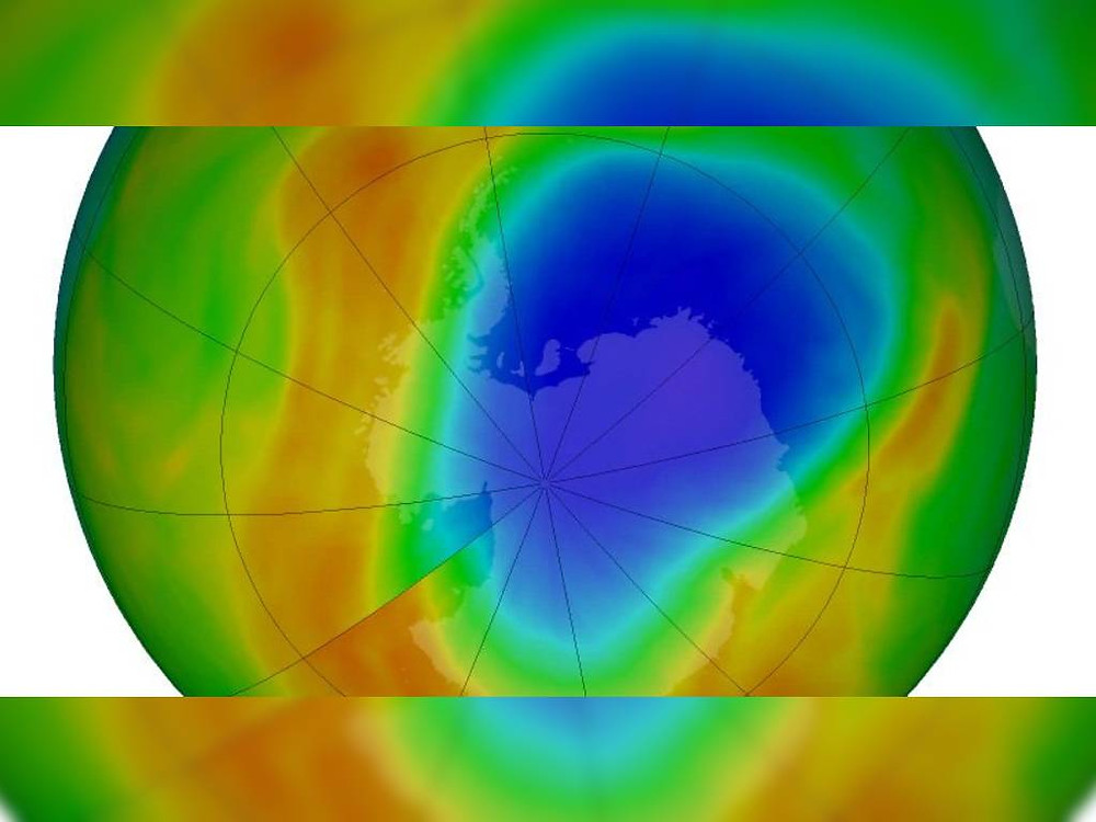 A hole in the ozone layer above Antarctica has been repairing itself. NASA