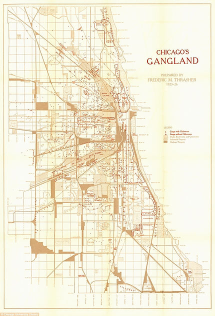 Chicago 20s gang map