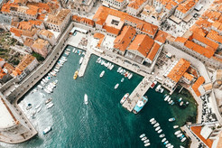 Dubrovnik Old Town drone shot
