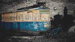 Zagreb tram mural - Trek Marlin 7