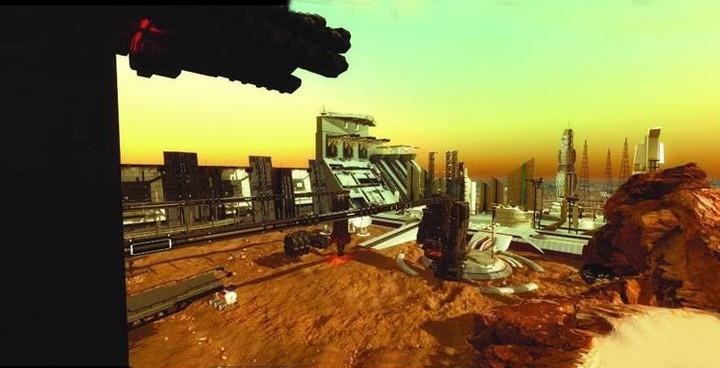 Uma cidade totalmente nova... em Marte