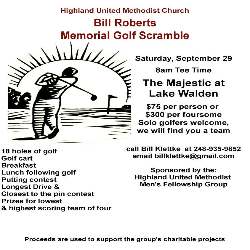 Bill Roberts Memorial Golf Scramble