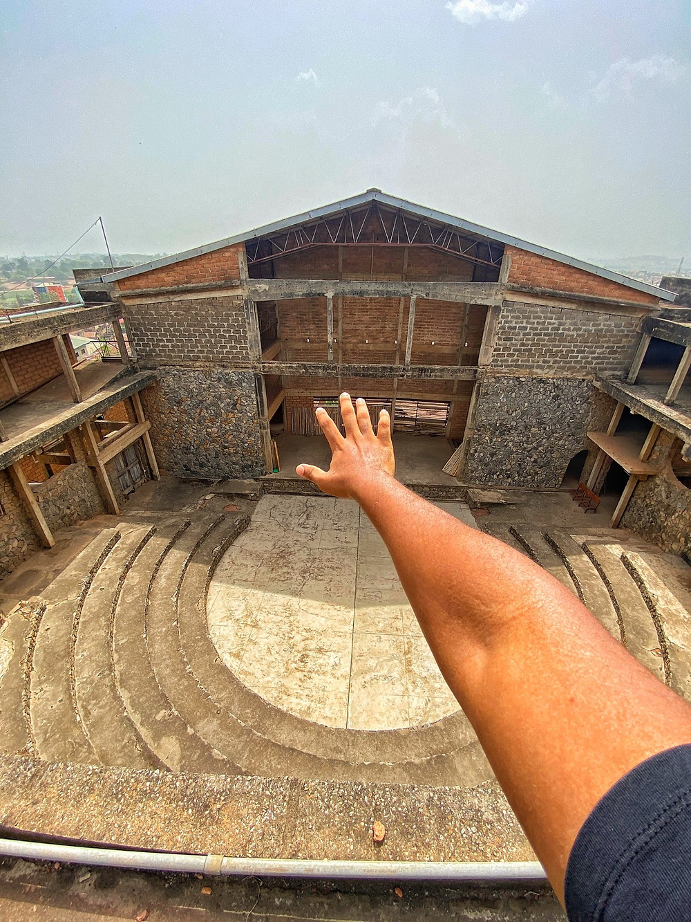 View from the highest point of the New Culture studio, Ibadan