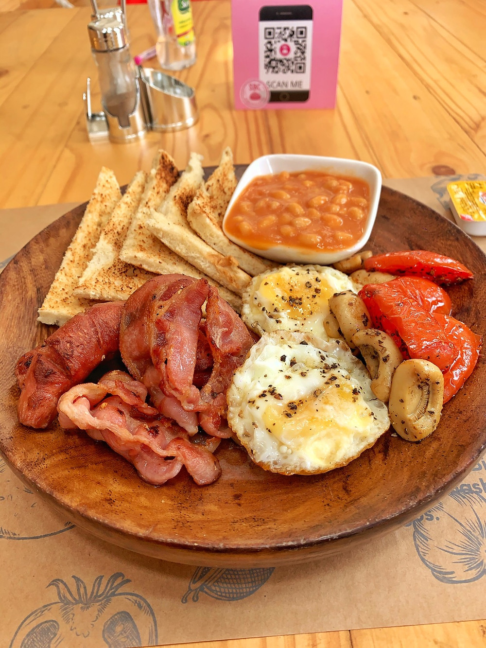 Full English Breakfast from SBC bakehouse