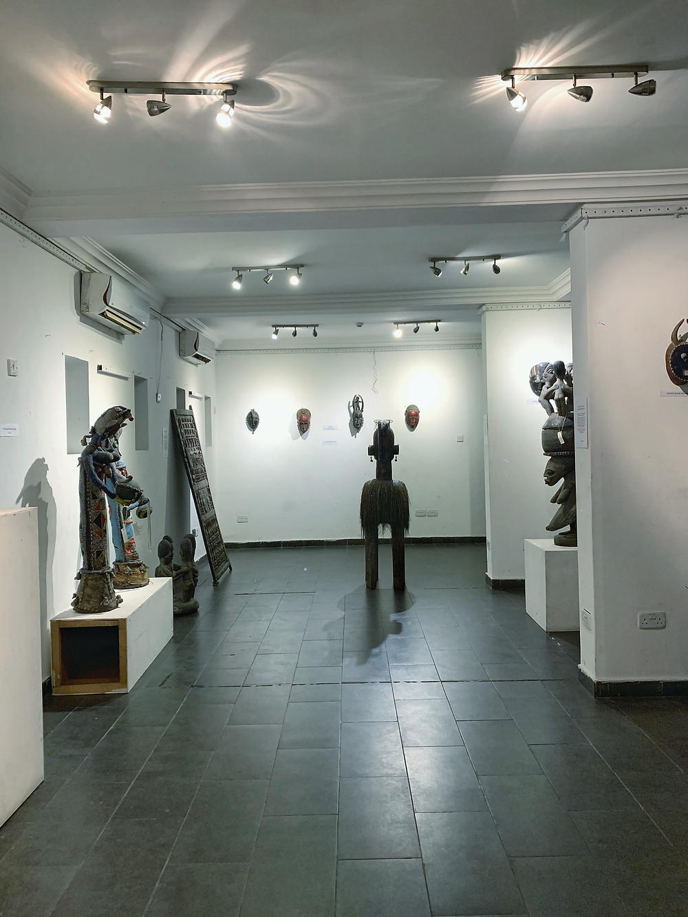 It houses a collection of West African sculptures from the Alkebulan collection in Lagos