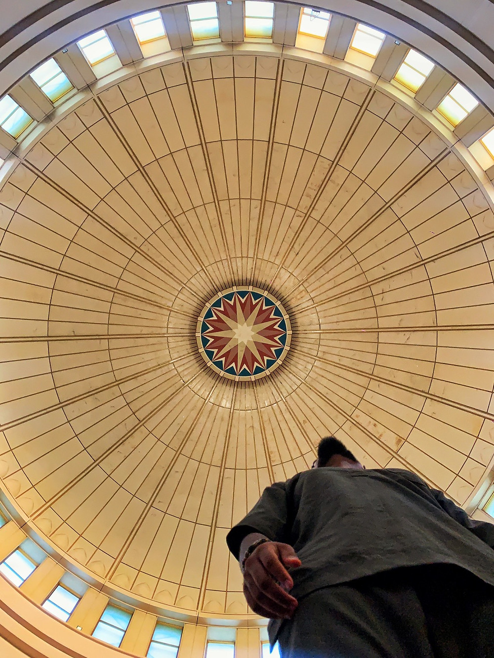 Compass design of the abuja national mosque ceiling