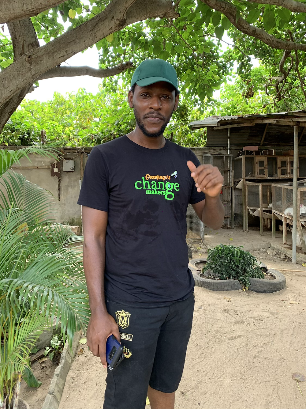 Chinedu Mogbo, founder of the greenfingers initiative