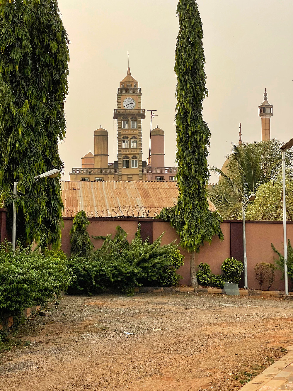 A view of the Offa Central Mosque from the Olofa's palace