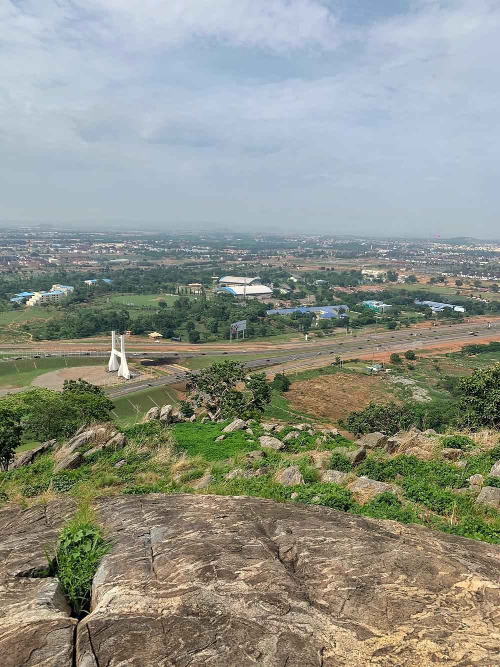View of Abuja city gate from the hiking trail