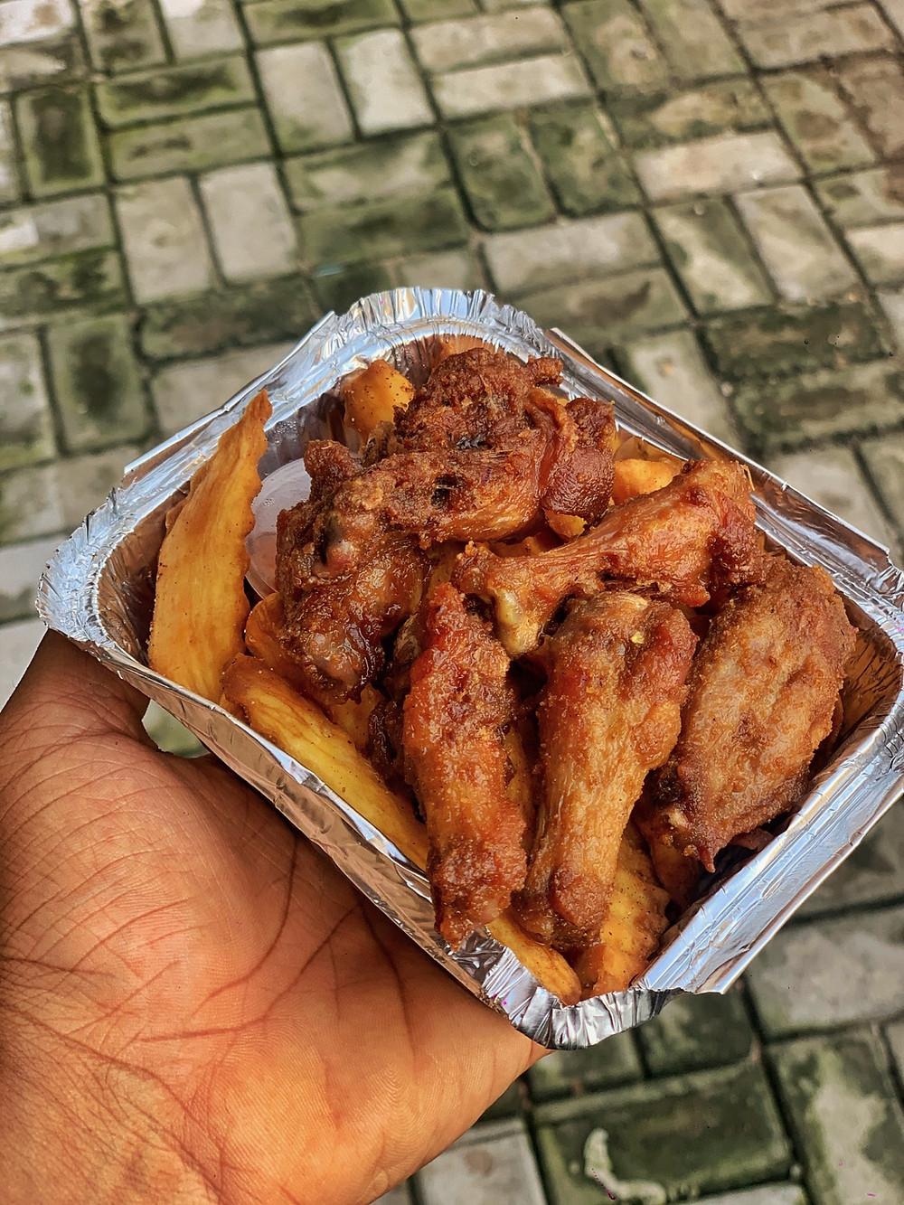 Suya pepper wings from wingsville