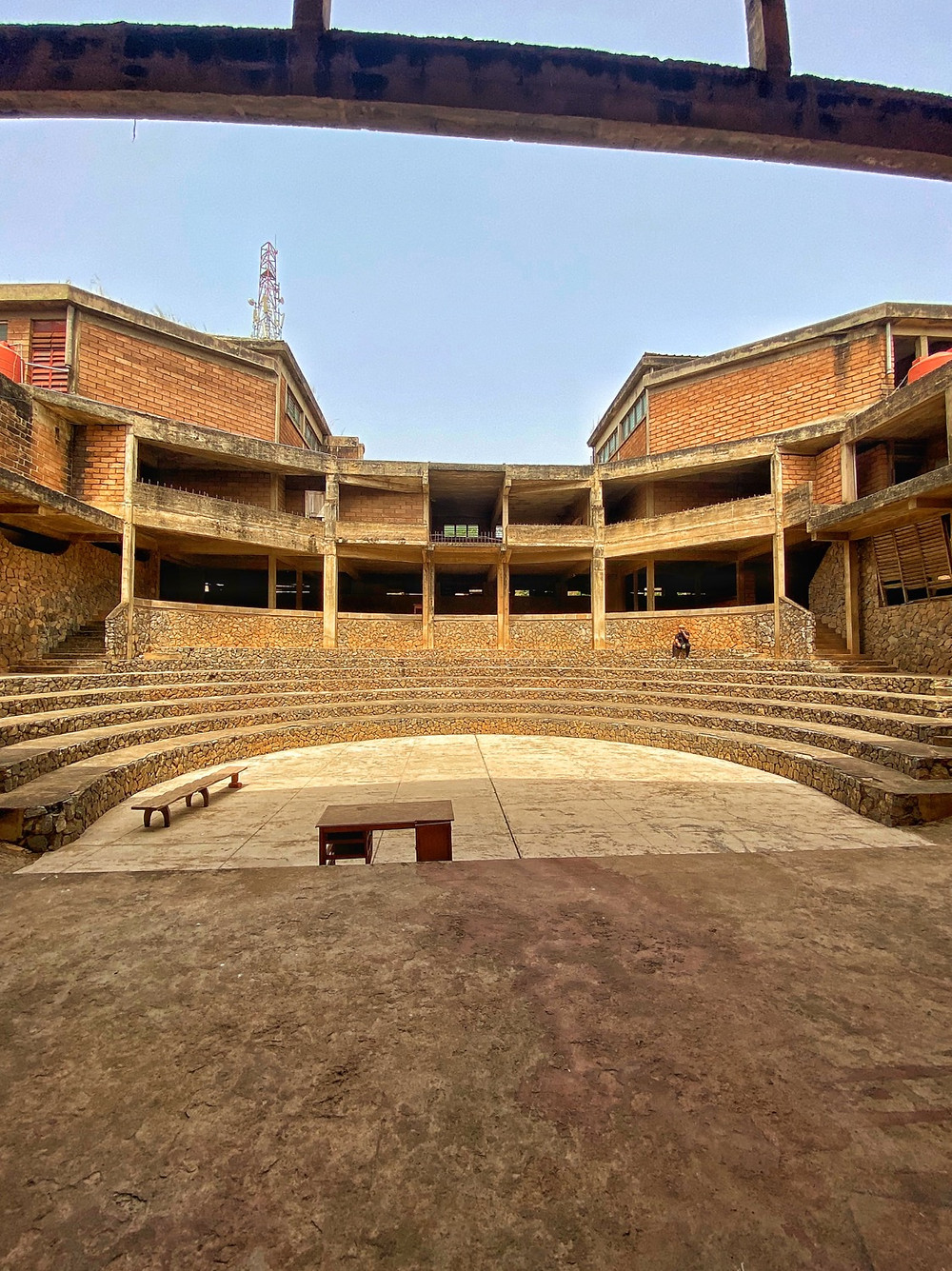 View from the stage of the amphitheater