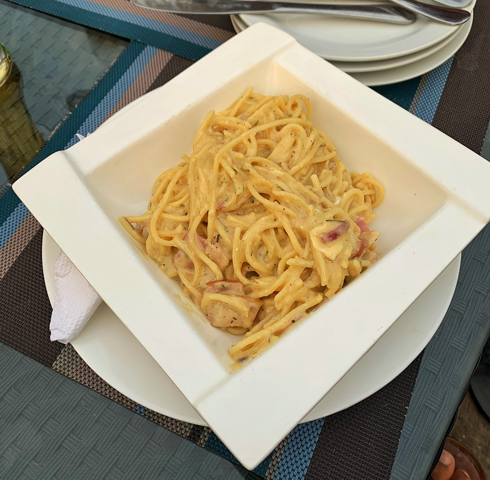 Pasta Carbonara at Kingfisher