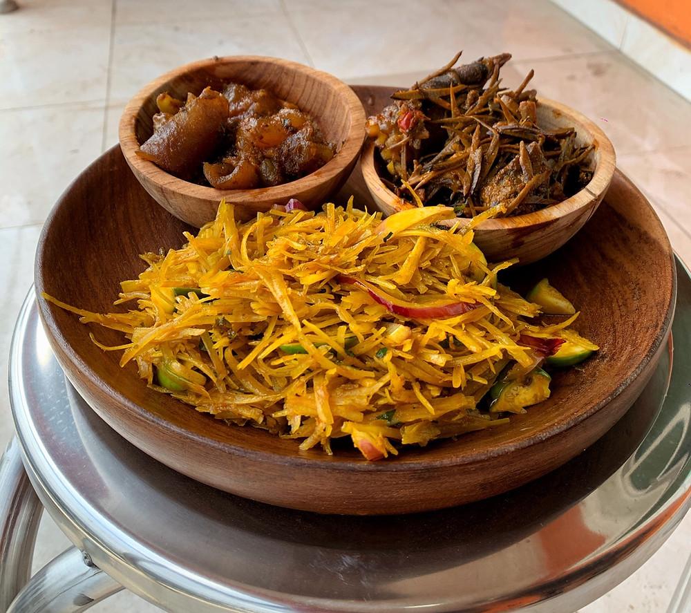 Ugba, Nkwobi and Abacha are native dishes of igbo people