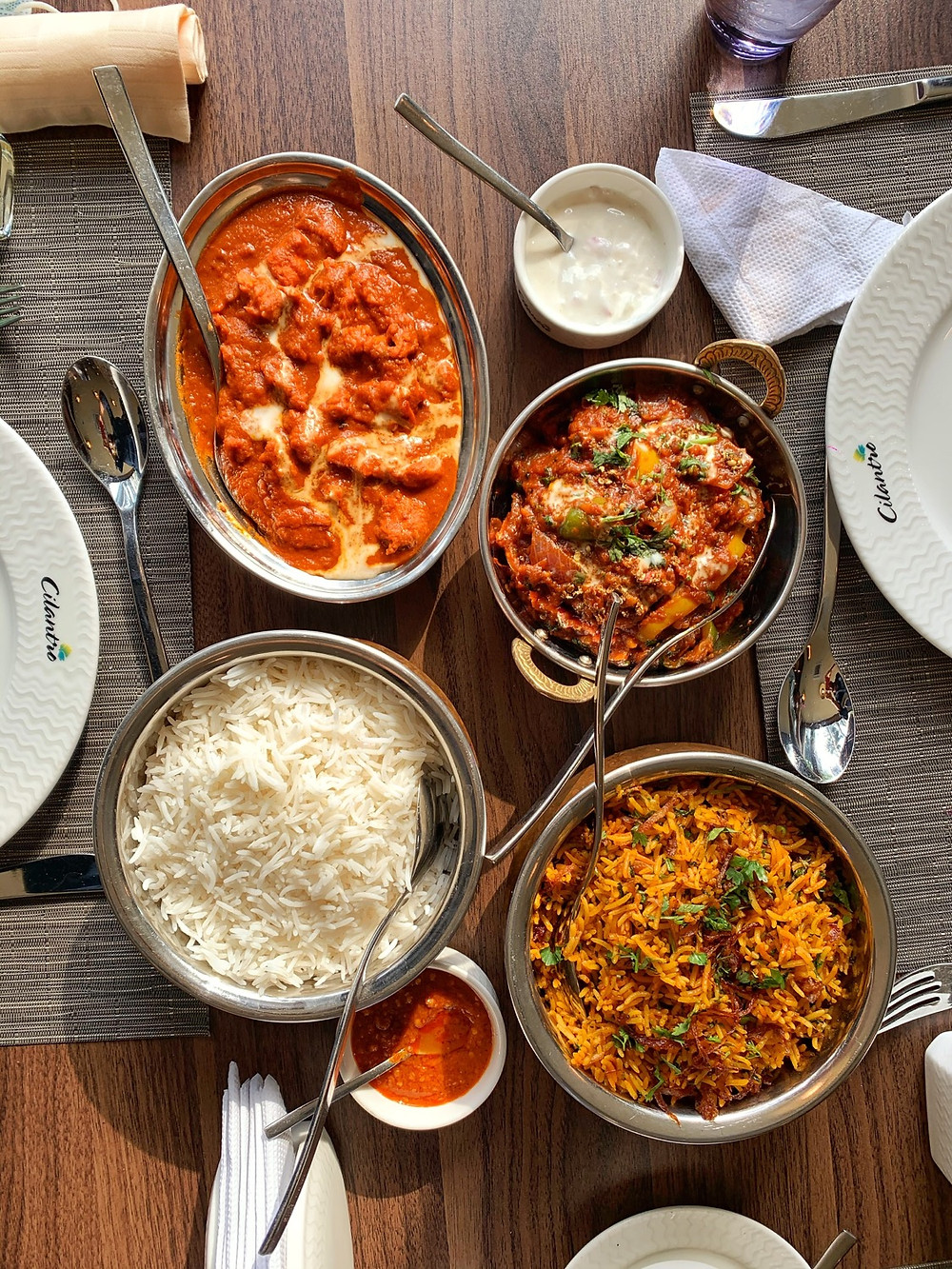 Indian food from Cilantro, Lagos
