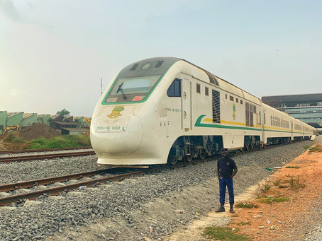 Catching the train - Lagos to Ibadan