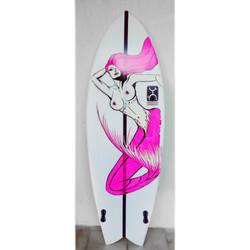Surfboard painting - mermaid