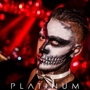 Halloween makeup / Platinum Nightclub