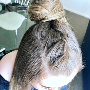 Trending braid & topknot
