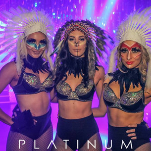Theme makeup for Platinum Nightclub