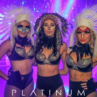 Theme makeup for Platinum Nightclub