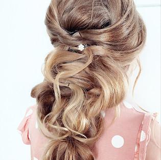 Greek braid for wedding / flower girl