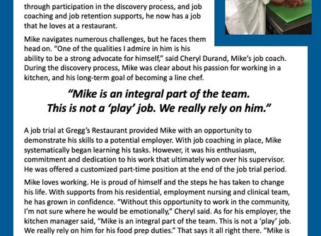 Mike G- Employment Success Story