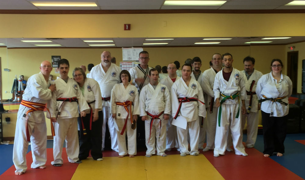 Group shot of karate