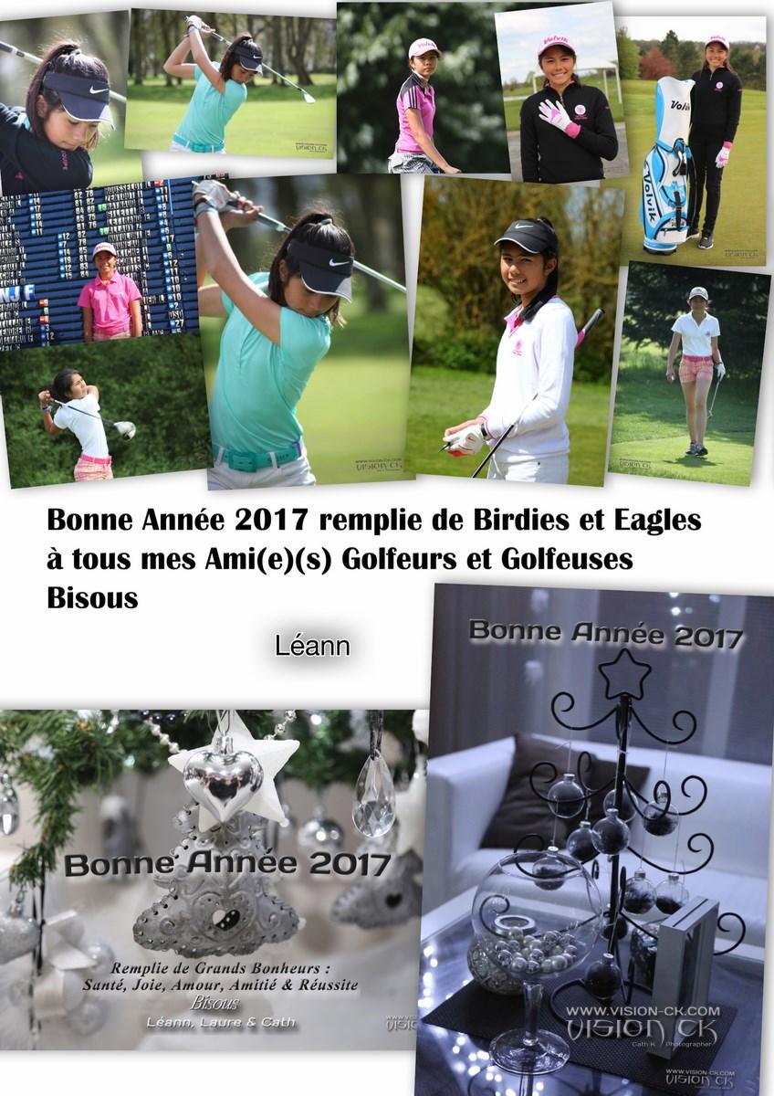 Carte BONNE ANNEE 2017 LEANN GOLF (LOGOTE)