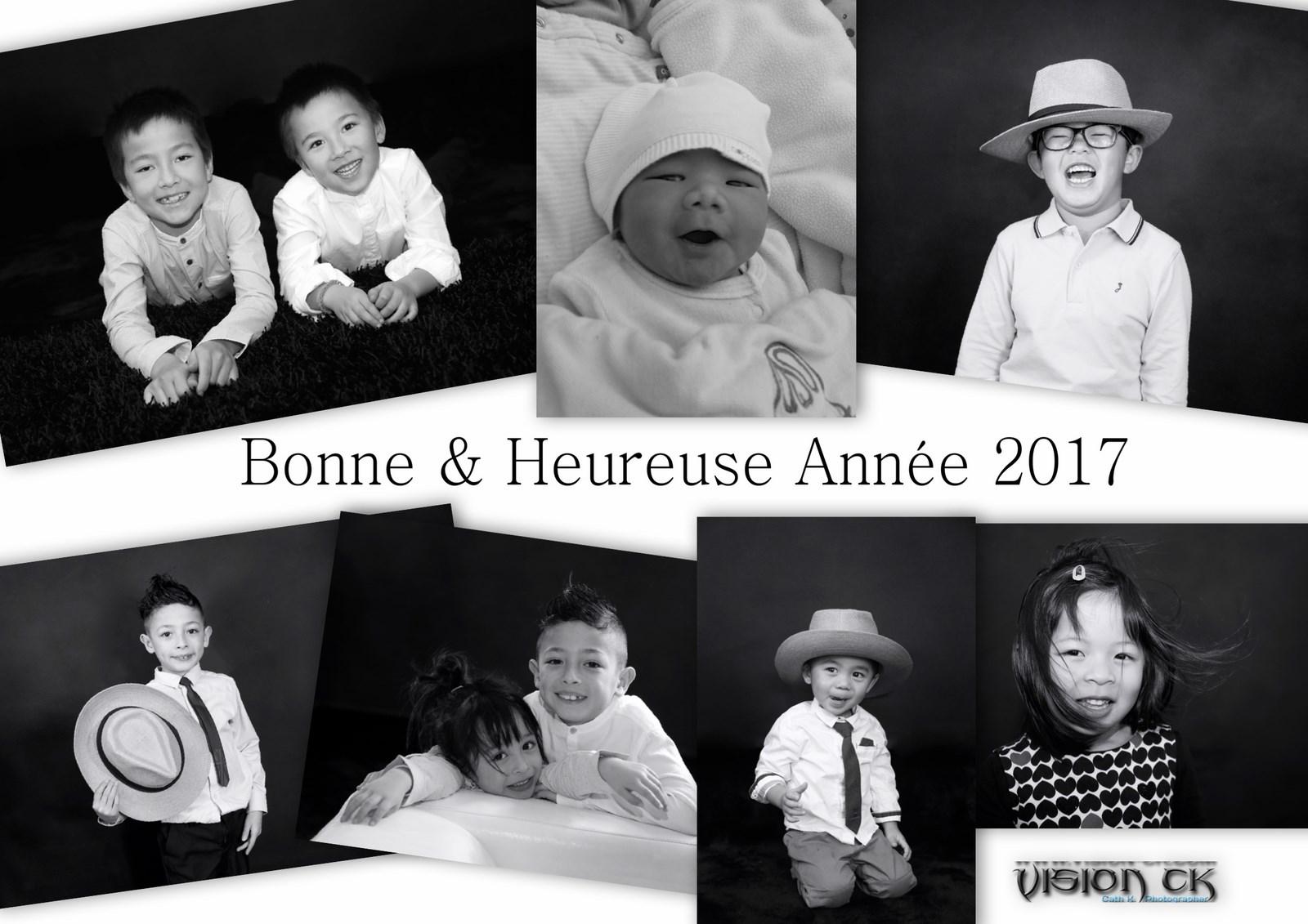 Carte NOEL NAM HEE BONNE ANNEE 2017 (LOGOTE)