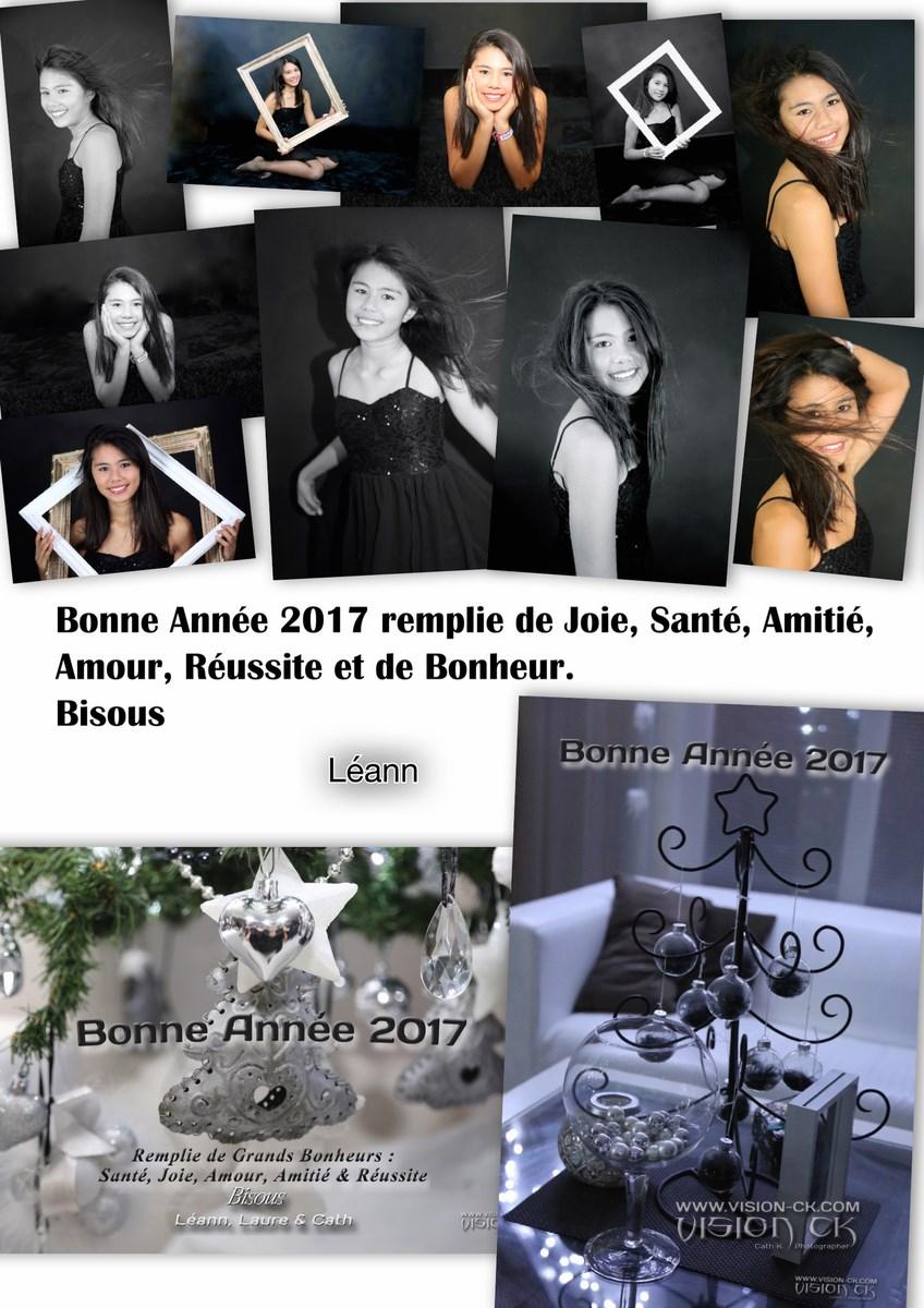 Carte BONNE ANNEE 2017 LEANN (LOGOTE)