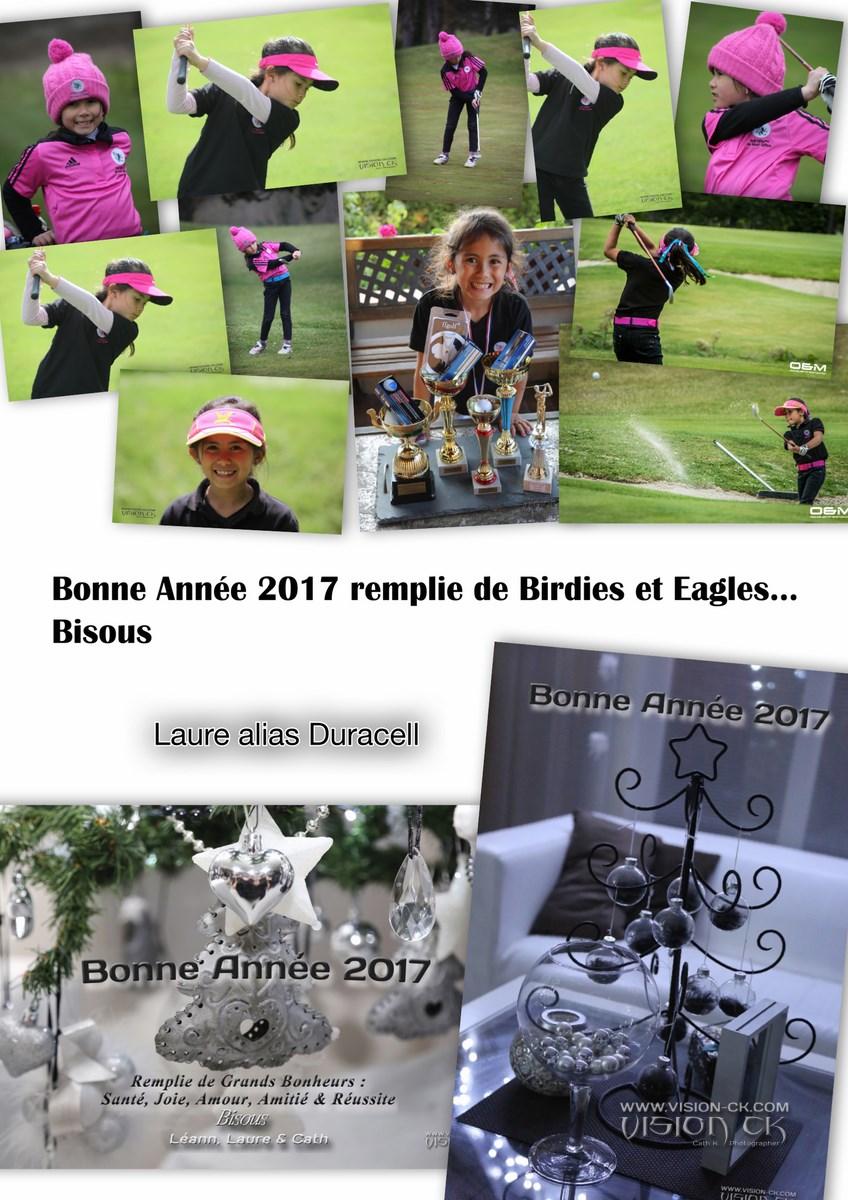 Carte BONNE ANNEE 2017 LAURE GOLF (LOGOTE)