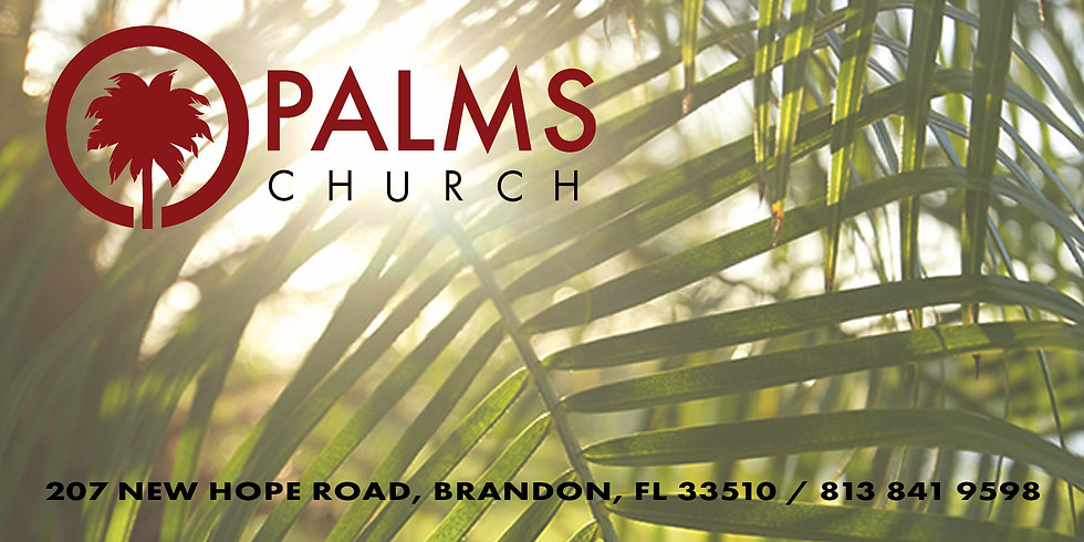 THIS SUNDAY MY TEAM AND I WILL BE MINISTRING AT THE PALMS CHURCH IN BRANDON  F.L.
