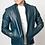 Thumbnail: Adria Blue Crusader Leather Jacket