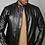 Thumbnail: Midnight Black Tourer Leather Jacket