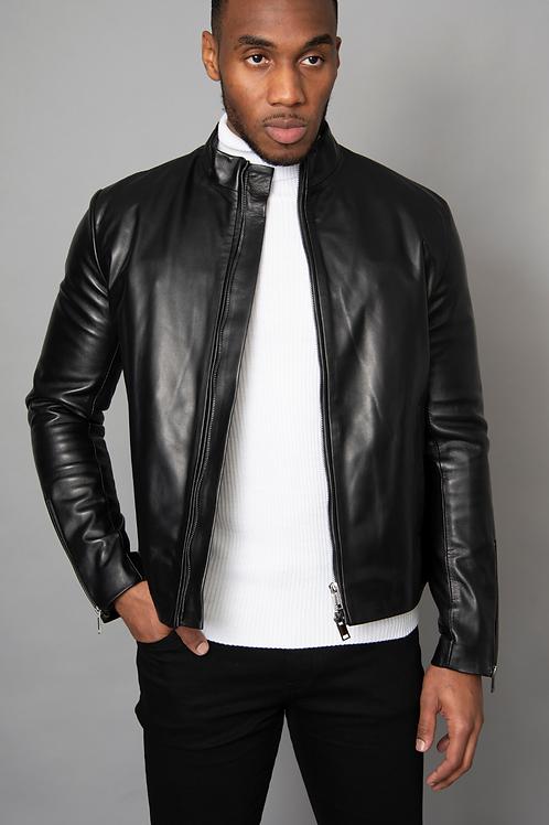Midnight Black Tourer Leather Jacket