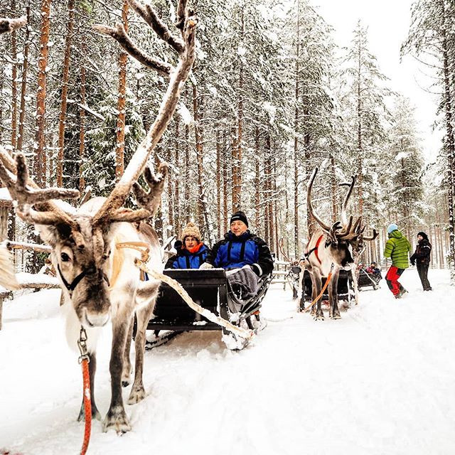 Snow fall in Lapland had allowed us to s