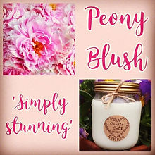 soy wax candle, peony candle, new fragrance