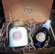 Soy wax candle, room spray, home fragrance gift set
