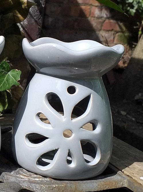 Grey Flower Wax Melter