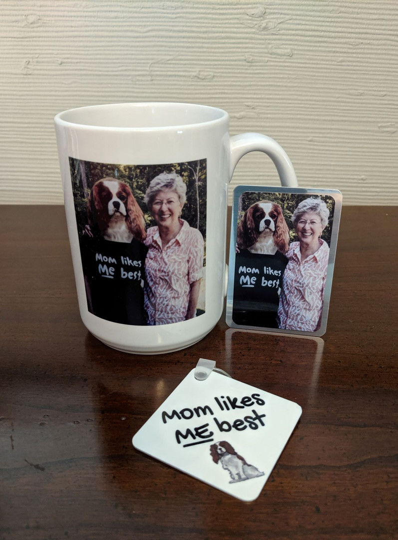 Mugs, Keychains, and Magnets